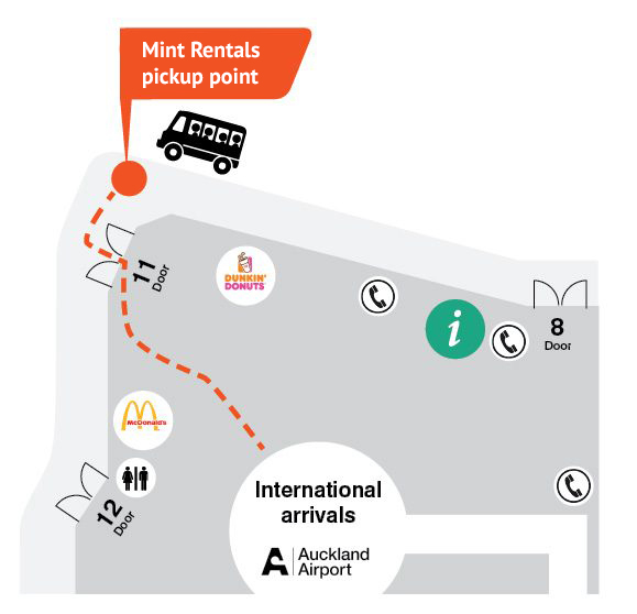 Mint Rentals Auckland Airport Pickup Information